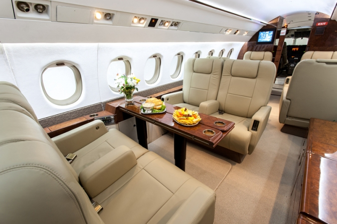 Featuring the First-Class Falcon 900