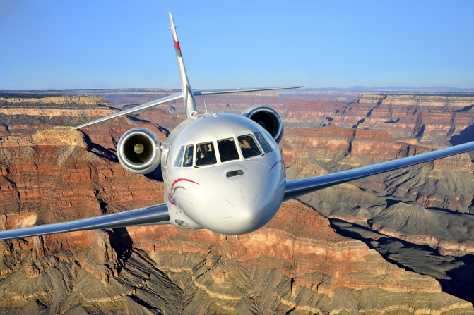 Fly in the Five-Star Falcon 2000