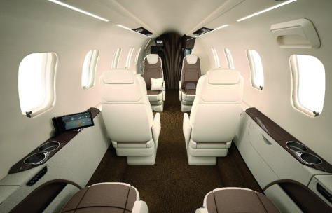 Learjet 70 interior